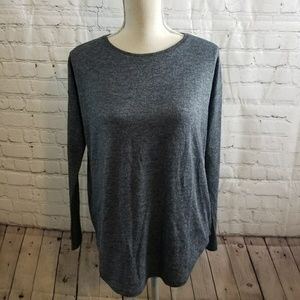 Ann Taylor Long Sleeve Top w/ Back Zipper Accent